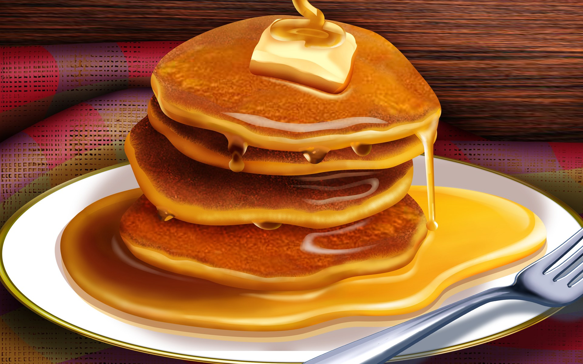 PSD_Food_illustrations_3190_pancakes_with_butter